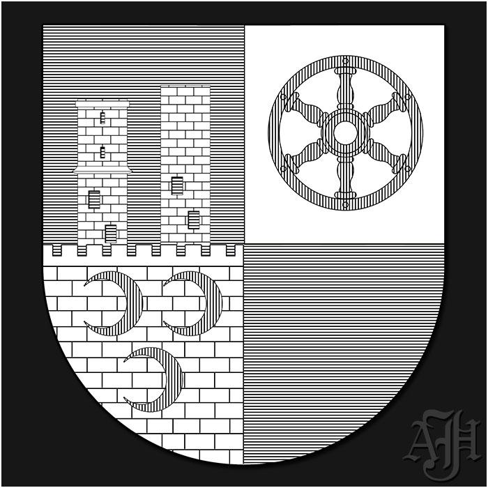 Wappen Rimbach Schraffurzeichnung