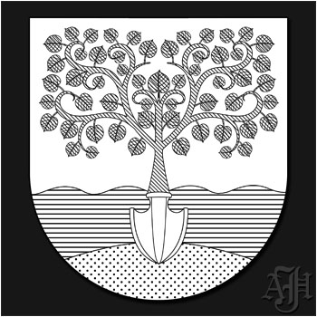 Wappen Farbschraffur