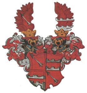 Historisches Wappen der Familie Schneeweiß.